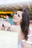 Menina com compras Fotografia de Stock Royalty Free