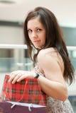 Menina com compras Imagem de Stock Royalty Free
