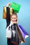 Menina com compras. Imagem de Stock Royalty Free