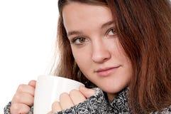 Menina com copo Imagens de Stock Royalty Free
