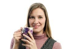 Menina com copo Imagem de Stock Royalty Free