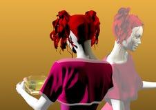 Menina com copo de chá Foto de Stock Royalty Free