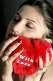 Menina com coração Foto de Stock Royalty Free