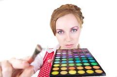 Menina com cosméticos Fotos de Stock