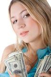 Menina com dólares imagem de stock royalty free