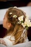 Menina com decoração do cabelo fotografia de stock royalty free