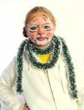Menina com desenhar pelo tigre da máscara imagens de stock royalty free