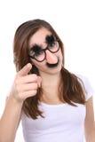 Menina com disfarce Imagens de Stock