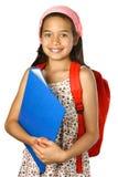 menina com dobrador azul Imagem de Stock