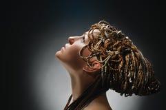 Menina com dobras africanas Fotografia de Stock Royalty Free