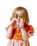 Menina com doces Foto de Stock Royalty Free
