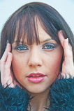 Menina com dor de cabeça má Fotografia de Stock