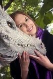 Menina com dragão 04 Imagem de Stock