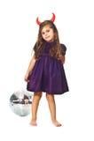 Menina com esfera Imagem de Stock Royalty Free