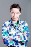 Menina com expressão Fotos de Stock Royalty Free