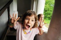 Menina com face scared imagem de stock royalty free