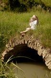 Menina com flauta Fotos de Stock Royalty Free