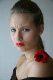 Menina com flor Imagens de Stock