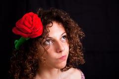 Menina com flor Imagens de Stock Royalty Free