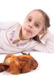 Menina com fome Imagem de Stock Royalty Free