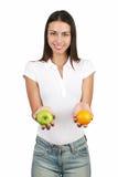 Menina com fruta Fotografia de Stock Royalty Free