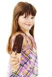 Menina com gelado fotografia de stock