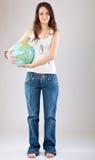 Menina com globo foto de stock royalty free