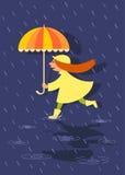 Menina com guarda-chuva Imagem de Stock