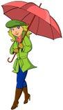 Menina com guarda-chuva Imagens de Stock
