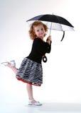 Menina com guarda-chuva Foto de Stock Royalty Free