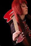 Menina com guitarra Imagens de Stock