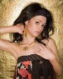 Menina com Jewelery imagens de stock