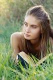 Menina com livro Foto de Stock