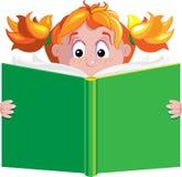 Menina com livro Foto de Stock Royalty Free