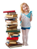 Menina com livros Imagem de Stock Royalty Free