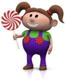 Menina com lollipop ilustração royalty free