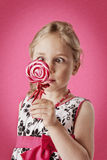 Menina com lollipop Imagens de Stock