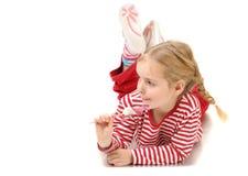 Menina com lollypop Fotografia de Stock