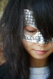 Menina com máscara imagem de stock