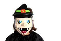 Menina com máscara de Halloween Imagem de Stock