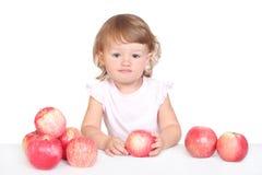 Menina com maçã Imagem de Stock Royalty Free