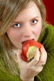 Menina com maçã Fotografia de Stock