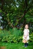 Menina com maçãs Foto de Stock Royalty Free