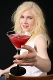 Menina com Martini Fotos de Stock