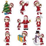 Menina com material do Natal Imagem de Stock