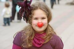 Menina com nariz vermelho Foto de Stock