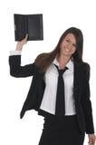 Menina com netbook Imagens de Stock