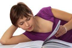 Menina com o livro Fotos de Stock