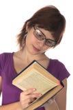 Menina com o livro Fotografia de Stock Royalty Free