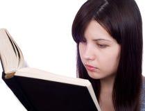 A menina com o livro Foto de Stock Royalty Free